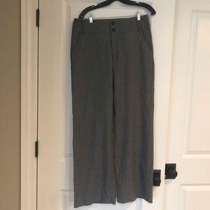 Banana Republic grey wool wide leg trouser